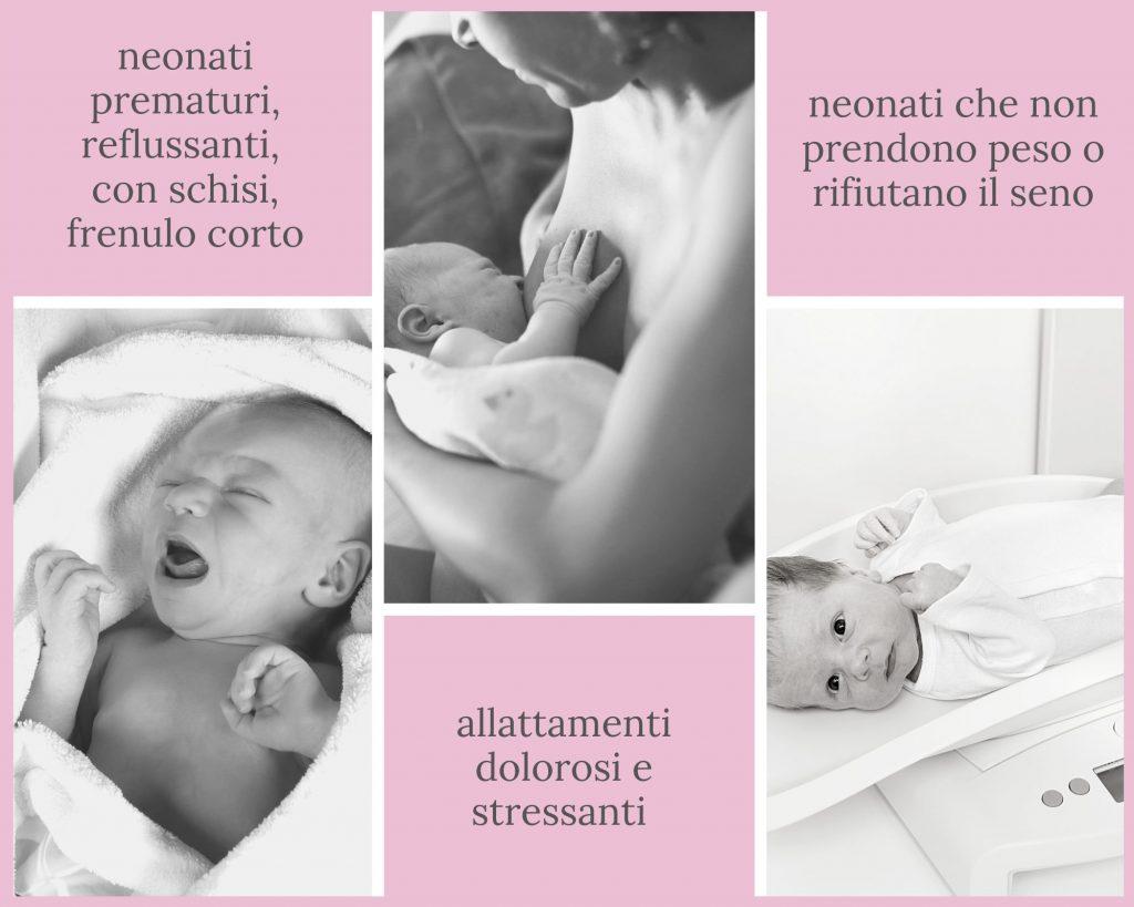 neonati prematuri reflussanti frenulo corto allattamento doloroso